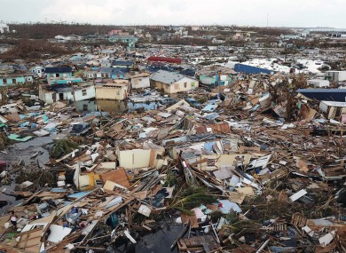 The scene in Abaco, Bahamas, which was devastated by Hurricane Dorian.