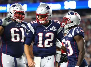 Back at it: Phillip Dorsett, Tom Brady.