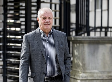 Raymond McCord outside the Royal Courts of Justice in Belfast.