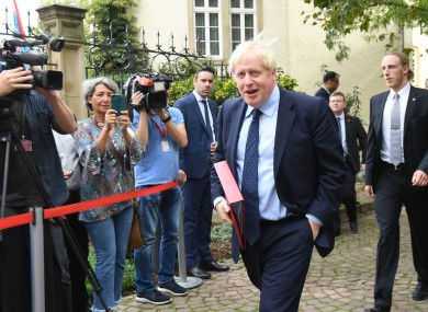 Prime minister Johnson in Luxembourg yesterday.