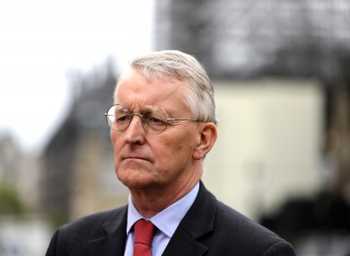 Labour MP for Leeds Central Hilary Benn outside Westminster.