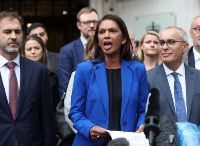 Gina Miller outside the UK Supreme Court this morning.