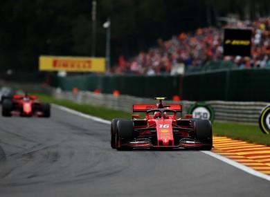 Charles Leclerc in the Belgian Grand Prix.