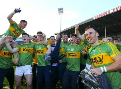 Clonoulty-Rossmore were crowned Tipperary senior hurling champions last year.