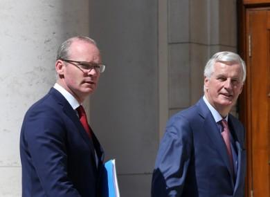 Simon Coveney and Michel Barnier met in Dublin in June.