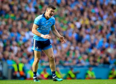 Diarmuid Connolly reacts after missing a late chance.