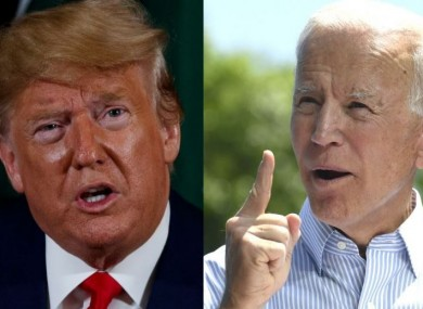 US President Donald Trump and former US Vice President Joe Biden.