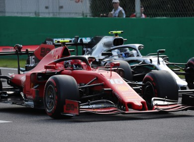 Charles Leclerc is in pole position at the Italian Grand Prix.