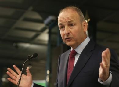 Fianna Fáil leader Micheál Martin.