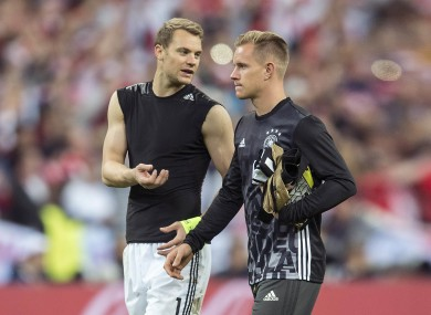 Manuel Neuer and Marc-André ter Stegen.