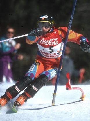 Blanca Fernandez Ochoa, pictured in 1991.