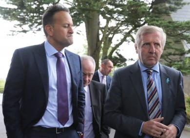 Taoiseach Leo Varadkar and Minister Michael Creed.