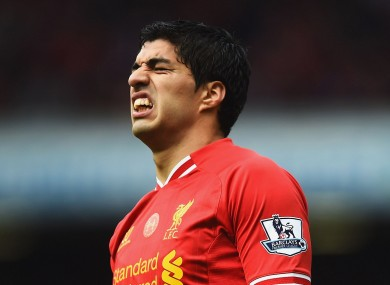Suarez scored 31 goals for Liverpool in 2013/14.
