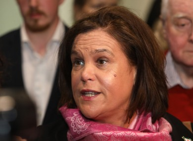 Mary Lou McDonald said the government should start preparing for a united Ireland.