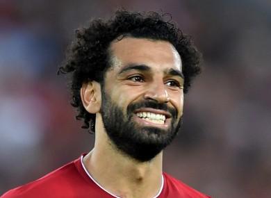 Liverpool forward Mohamed Salah.