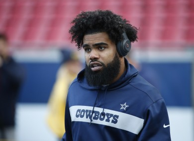 Dallas Cowboys running back Ezekiel Elliott.
