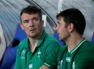Peter O'Mahony was forced off against Scotland.
