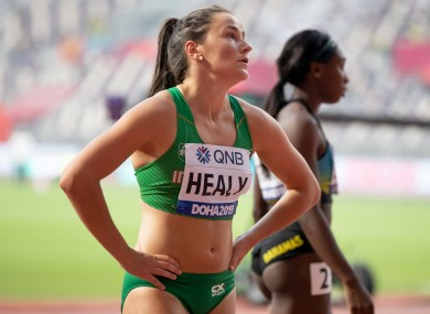 Disappointment for Healy after finishing fifth in her heat.