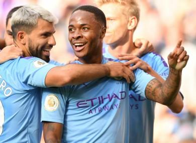 Raheem Sterling has impressed for Man City this season.