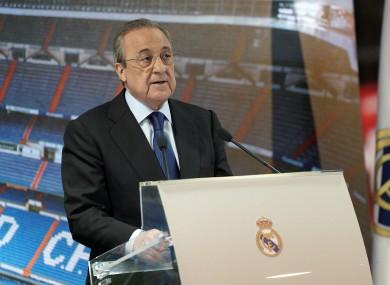 Real Madrid president Florentino Perez.