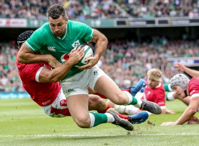 Kearney scored his first Test try in four years against Wales.