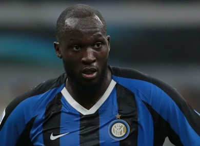 Lukaku scored for Inter in the 2-1 win over Cagliari.