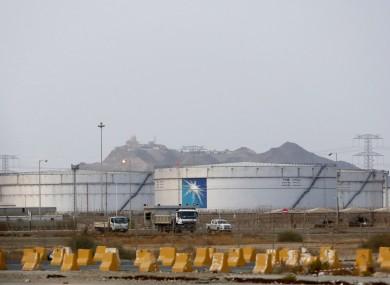 Aramco oil facility is seen in Jiddah, Saudi Arabia