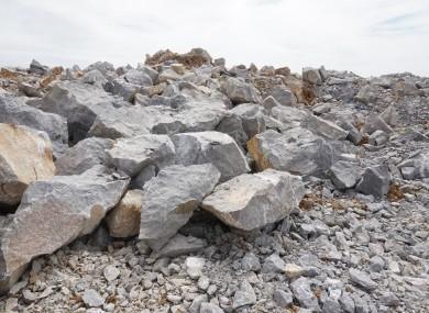 File photo of a limestone quarry.