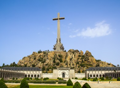 Valley of the Fallen in Madrid where Franco is buried