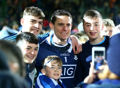Cluxton poses for photos with Dublin supporters.