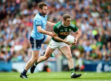 Stephen O'Brien takes on Jack McCaffrey during the drawn All-Ireland final.
