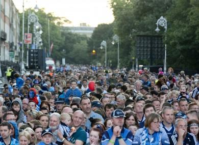 Dublin GAA fans during the 2013 homecoming