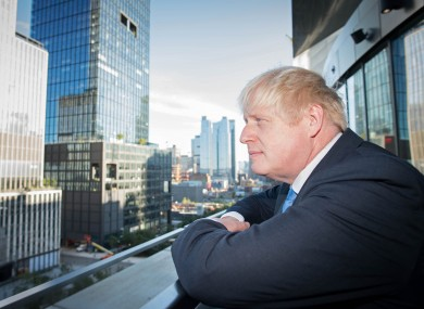 Prime Minister Boris Johnson in New York on the day of the Supreme Court ruling.