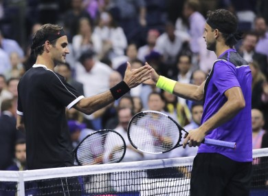 Roger Federer lost out to Grigor Dimitrov at the US Open.