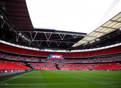 London's Wembley Stadium (file photo).