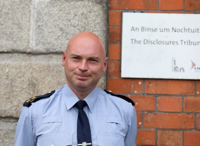 Garda Nicholas Keogh outside the Disclosures Tribunal at Dublin Castle