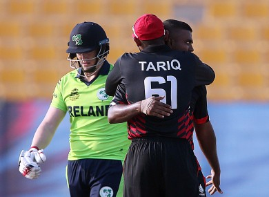 Ireland fell 10 runs short in Abu Dhabi.