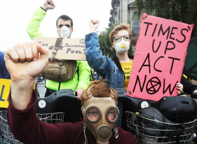 Extinction Rebellion protesters in Dublin earlier this year