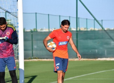Des McAleenan pictured during a recent training session with the Colombian national team.