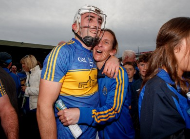 Aaron Gillane celebrating after Patrickswell's victory.