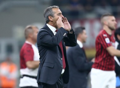 Giampaolo replaced Gennaro Gattuso during the summer,