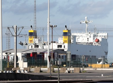 File photo of a cargo ship at the port of Zeebrugge in Belgium