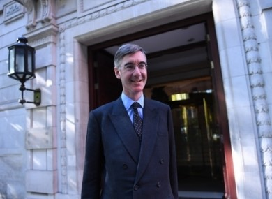 Jacob Rees Mogg, the leader of the House of Commons.