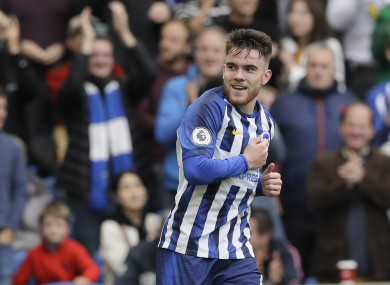 Aaron Connolly scored twice for Brighton against Tottenham on Saturday.