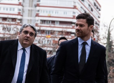 Alonso arriving in court when appearing back in January.