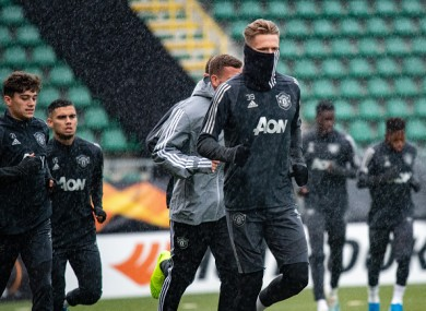Scott McTominay during United's session today.