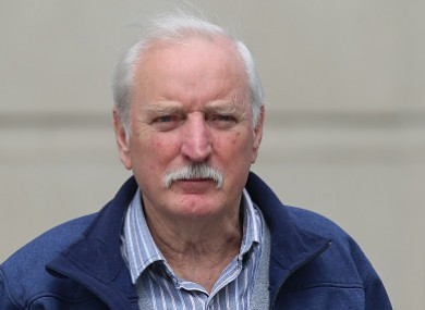 Ivor Bell leaving the Belfast Magistrates' Court in 2016, aged 79.