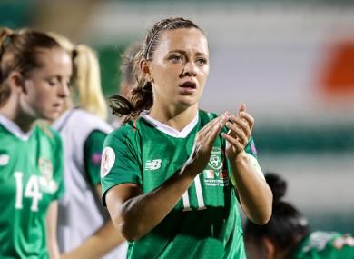 Katie McCabe after Ireland's win over Montenegro.