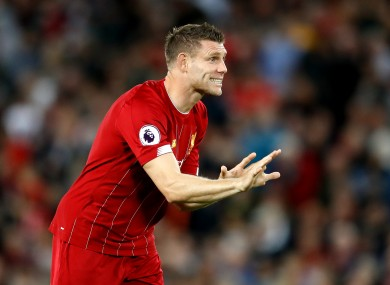 Milner was the match-winner for the Reds.