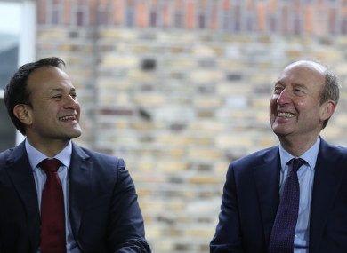 File photo of Taoiseach Leo Varadkar and Transport Minister Shane Ross.